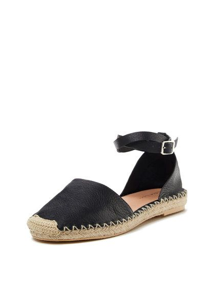 Geneva Two-Piece Leather Espadrille  by Maiden Lane at Gilt