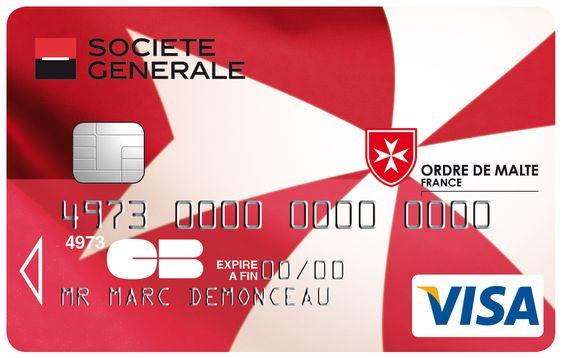 Préférence Carte Visa Société Générale Ordre de Malte #societegenerale  JB07