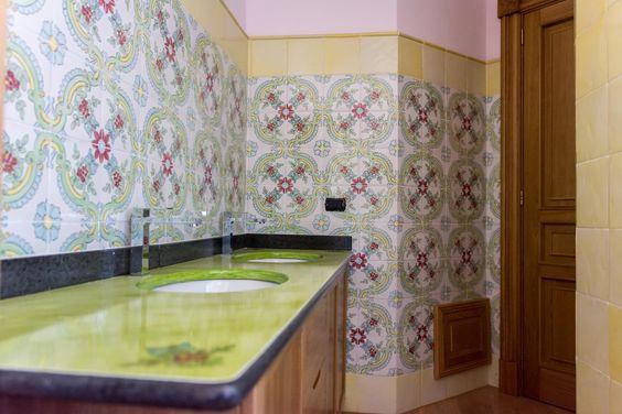 La fauci cotto siciliano rivestimento bagno in maiolica