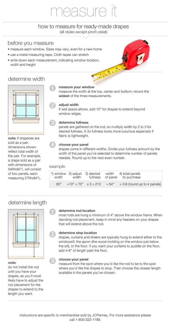 how to measure window treatments and curtains on pinterest. Black Bedroom Furniture Sets. Home Design Ideas