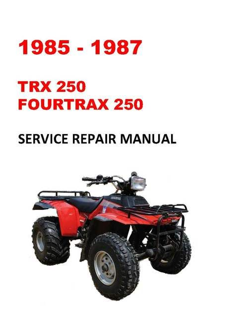 1985 1987 Trx250 Fourtrax Service Repair Workshop Manual Repair Repair Manuals Light Switch Wiring