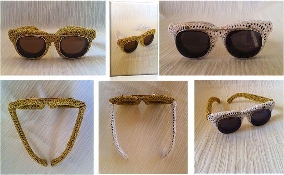 Tricô Moda e Arte  por Angela Aronne : Óculos de sol de Crochê???!!!!!
