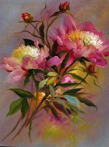 Tela com flores: