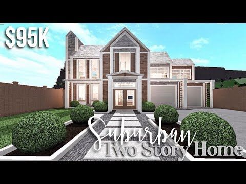 Suburban Two Story Home Bloxburg House Build Gamingwithv Youtube In 2020 Building A House Two Story House Design House Plans With Pictures