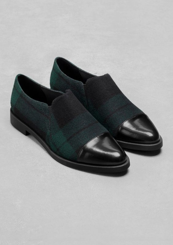 Other Stories | Checkered Flats #loafers #shoes #flats