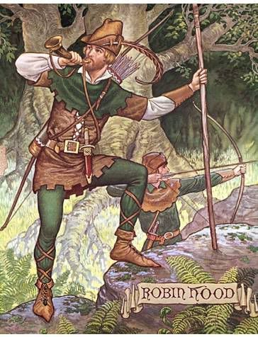 Robin Hood on a rock photo RobinHoodonarock.jpg: