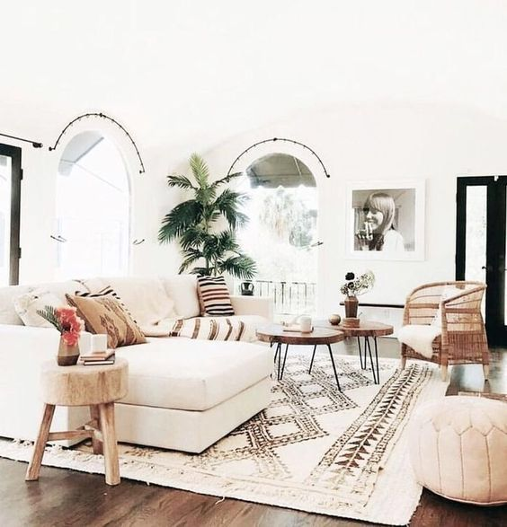 Palm Tree In The Living Room Nha Cửa Thiết Kế Kiến Truc #palm #tree #for #living #room
