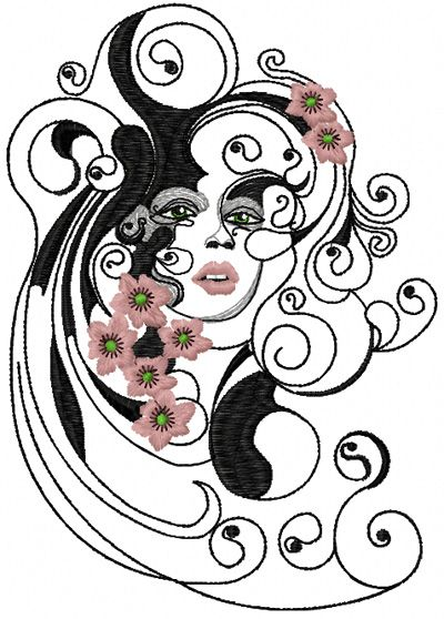 Spring free modern machine embroidery design dora s