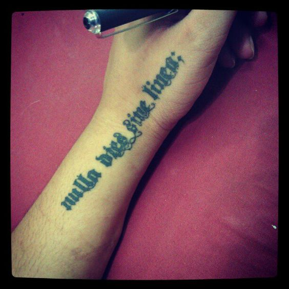 Latin Proverb Tattoo 3