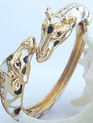Unique Deer Giraffe Bracelet Bangle With Clear ... – USD $ 12.56