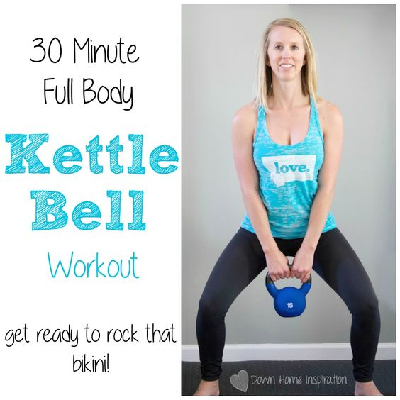 20 Minute Double Kettlebell Workout: 30 Minute Full Body Kettlebell Workout