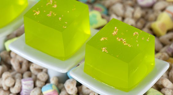 Lucky-tini jello shots