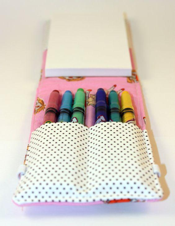 Crayon Holder // Crayon Wallet // Crayon Organizer // Sock Monkey on Etsy, R$20,54