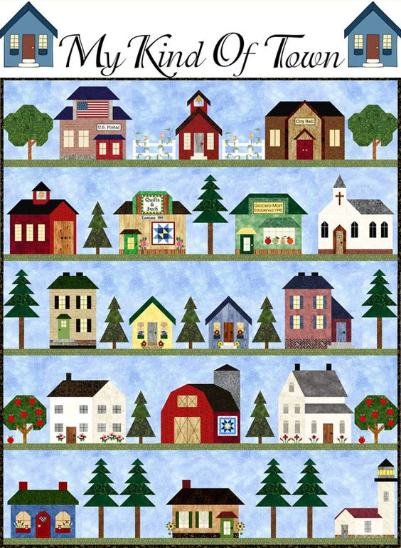 My Kind of Town by Pam Bono - unable to find good link to pattern | Try eBay…