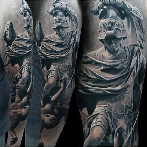 Realistic Tattoo Statue Tattoo Tattoos For Guys Greek Tattoos