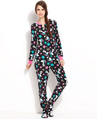 Snoopy Footed Pajamas - Lingerie - Women - Macy's... I need this ...