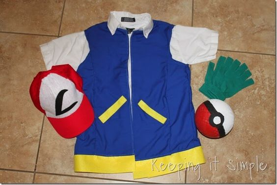 DIY Pokemon Ash Costume (1):