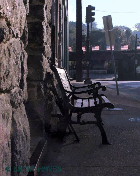 Old Ellicott City, Morning Bench