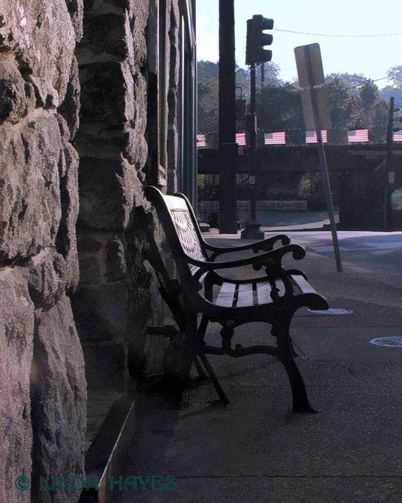 Old Ellicott City, Morning Bench