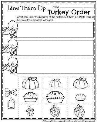 November Preschool Worksheets   Photo editor, Cut and ...