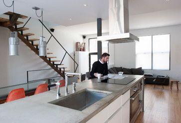 My Houzz: Stark Minimalism Takes Shape - modern - Kitchen - Montreal - Le Michelle Nguyen