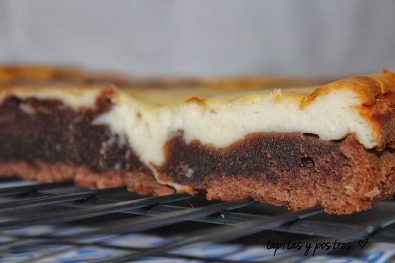 Tapitas y Postres: Brownie de chocolate y queso