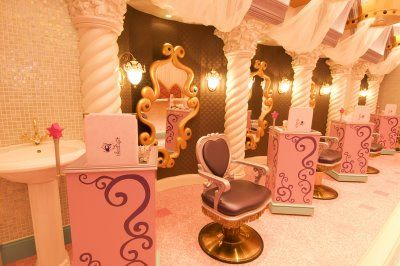 Disney salon cuz every little girl always dreamed of - My place salon de the ...