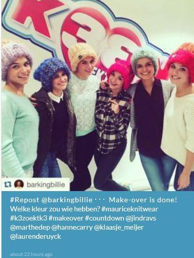 de meisje hebben hun haar gekleurd welk keur hebben ze  blond (Rood) of zwart #K3ZoektK3(finale)