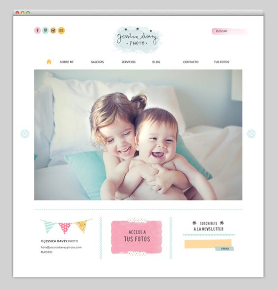 Like the look of this website: the colors, the simplicity, the watercolor look...