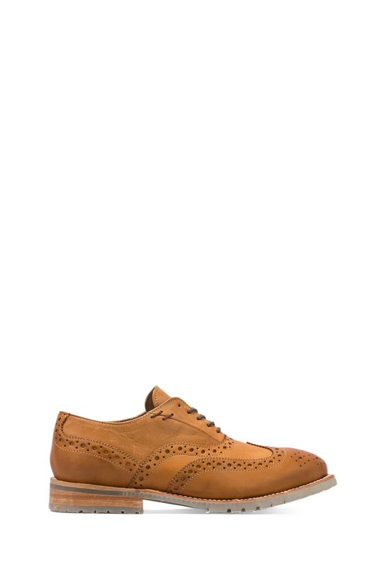 J.D. FISK Park Brogue in Tan from REVOLVEclothing