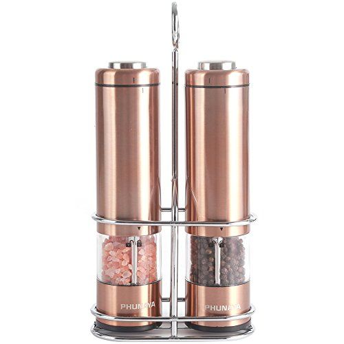 Phunaya Electric Salt And Pepper Grinder Set With Upgrade Https Www Dp B07cv596wq R Copper Kitchen Accessories Rose Gold Kitchen Copper Kitchen