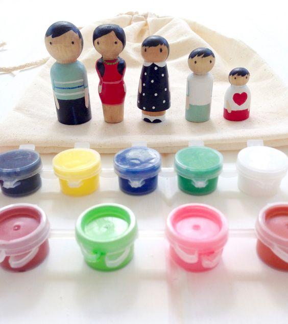 poupée en bois - kit de bricolage poupée - trousses d'artisanat - cheville bois bricolage - craft ensemble - jeux et jouets pour enfants par NayanaIliffe sur Etsy https://www.etsy.com/fr/listing/252406851/poupee-en-bois-kit-de-bricolage-poupee