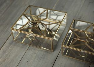 Antique Brass Star Box