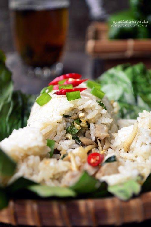 Nasi Bakar Isi Teri Dan Jamur Resep Masakan Indonesia Resep Makan Malam Resep Masakan
