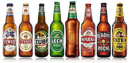 Brands of Polish beers~ I tried every one I could and brought back ALL the labels and decoupaged them on to a serving tray. Same for bottled juices + vodkas.
