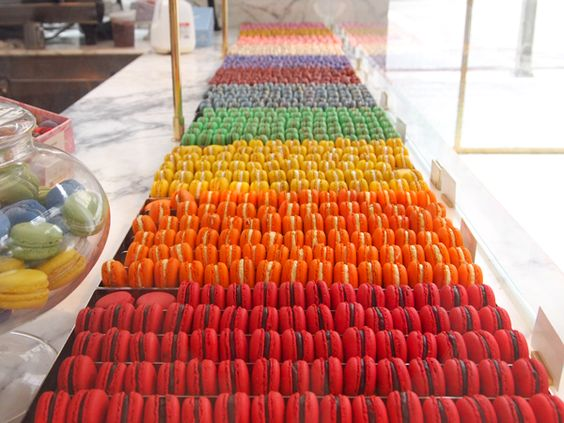 French macarons from Bottega Louie. #LAeveryday