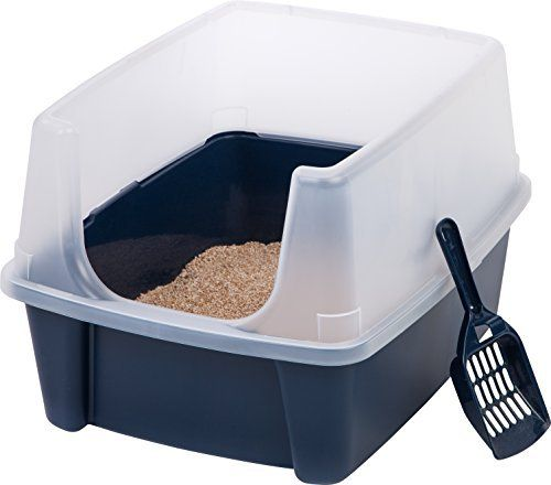 Open Top Cats Litter Box With Shield And Scoop Tidy Learn More