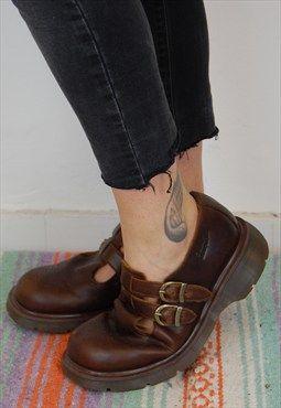 VTG Dr Martens Mary Jane, 2 straps/2 buckles, UK 7- SL115: