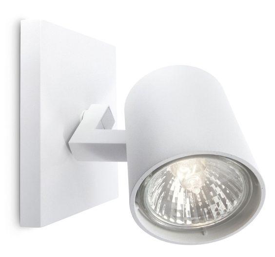 PHILIPS myLiving Aufbauspot, max. 50W, inklusive Leuchtmittel, 1-flammig 530903116: Amazon.de: Beleuchtung