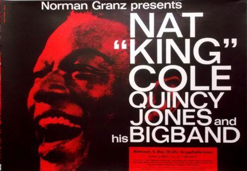COLE-NAT-KING-1960-Konzertplakat-Michel-Kieser-Quincy-Jones