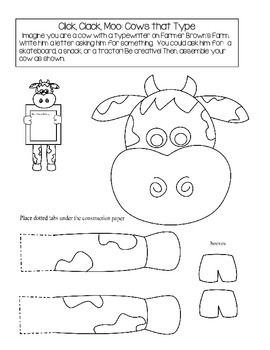 All About Click Clack Moo Cows That Type Coloring Page Free