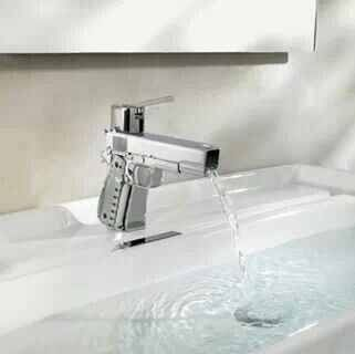 Faucets guns and man cave on pinterest for Man cave bathroom sink