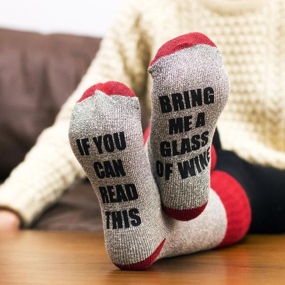 Bring Me Wine Socks - The VinePair Store