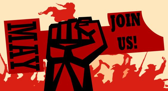 Join Us, May First by Party9999999.deviantart.com on @DeviantArt