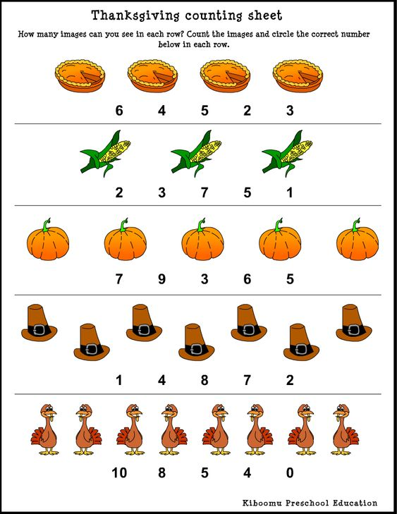 Number Names Worksheets free printable thanksgiving worksheets for kids : Thanksgiving, Kids songs and Children on Pinterest