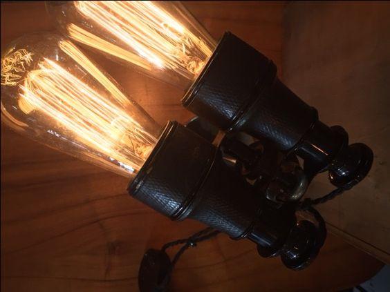 Vintage Binoculars Lamp by Twisted Salvage