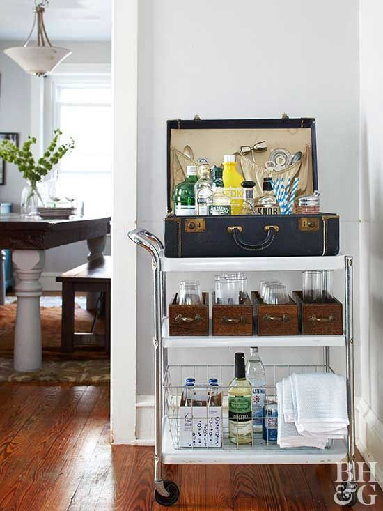 How To Decorate With Flea Market Finds With Images Bar Furniture Bar Cart Decor Metal Cart