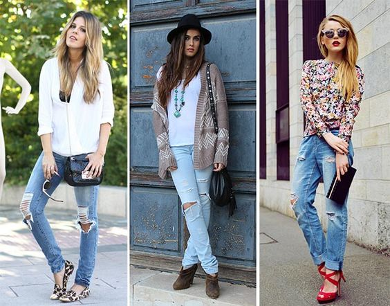 Ripped Jeans Trend: How to Wear Ripped Jeans | Fashion Summer and