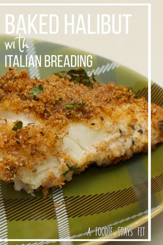 Baked Halibut with Italian Breading