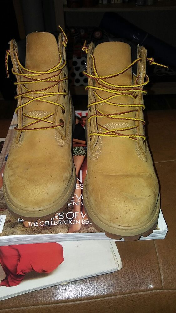 Pre Owned Used Worn Classic Timberland Boots kids sz 4